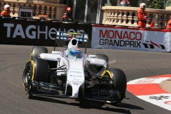 World © Octane Photographic Ltd. Saturday 24th May 2014. Monaco - Monte Carlo - Formula 1 Practice 3. Williams Martini Racing FW36 – Valtteri Bottas Digital Ref: 0965LB1D7344