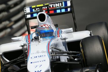 World © Octane Photographic Ltd. Saturday 24th May 2014. Monaco - Monte Carlo - Formula 1 Practice 3. Williams Martini Racing FW36 – Valtteri Bottas Digital Ref: 0965LB1D7563