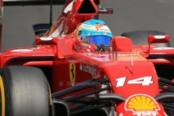 World © Octane Photographic Ltd. Saturday 24th May 2014. Monaco - Monte Carlo - Formula 1 Practice 3. Scuderia Ferrari F14T - Fernando Alonso. Digital Ref: 0965LB1D7626