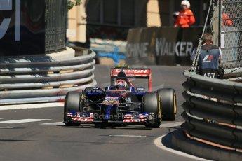 World © Octane Photographic Ltd. Saturday 24th May 2014. Monaco - Monte Carlo - Formula 1 Practice 3. Scuderia Toro Rosso STR 9 – Daniil Kvyat. Digital Ref: 0965LB1D7655