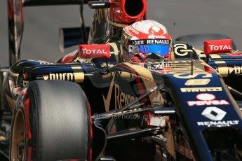 World © Octane Photographic Ltd. Saturday 24th May 2014. Monaco - Monte Carlo - Formula 1 Practice 3. Lotus F1 Team E22 - Romain Grosjean. Digital Ref: 0965LB1D7674