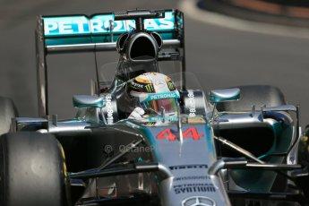 World © Octane Photographic Ltd. Saturday 24th May 2014. Monaco - Monte Carlo - Formula 1 Practice 3. Mercedes AMG Petronas F1 W05 Hybrid – Lewis Hamilton. Digital Ref: 0965LB1D7715