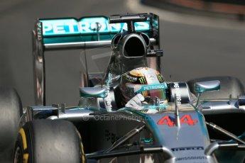 World © Octane Photographic Ltd. Saturday 24th May 2014. Monaco - Monte Carlo - Formula 1 Practice 3. Mercedes AMG Petronas F1 W05 Hybrid – Lewis Hamilton. Digital Ref: 0965LB1D7716