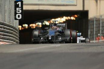 World © Octane Photographic Ltd. Saturday 24th May 2014. Monaco - Monte Carlo - Formula 1 Qualifying. McLaren Mercedes MP4/29 - Jenson Button. Digital Ref: 0967LB1D8238