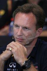 World © Octane Photographic Ltd. Thursday 22nd May 2014. Monaco - Monte Carlo - Formula 1 Press conference. Infiniti Red Bull Racing Team Principle - Christian Horner. Digital Ref: 0961LB1D4835