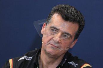 World © Octane Photographic Ltd. Thursday 22nd May 2014. Monaco - Monte Carlo - Formula 1 Press conference. Lotus F1 Team Deputy Team Principle- Federico Gastaldi. Digital Ref: 0961LB1D4855