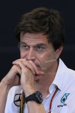 World © Octane Photographic Ltd. Thursday 22nd May 2014. Monaco - Monte Carlo - Formula 1 Press conference. Mercedes AMG Petronas F1 Executive Director - Toto Wolff. Digital Ref: 0961LB1D4982