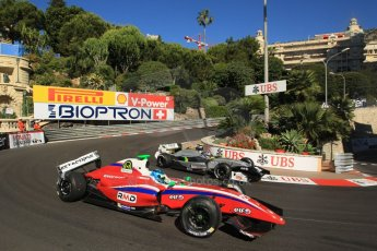 World © Octane Photographic Ltd. World Series by Renault 3.5 - Monaco, Monte Carlo, May 24th 2014 - Qualifying. Zeta Corse – Roman Mavlanov with damaged rear wing and Strakka Racing – Matias Laine. Digital Ref : 0966LB1D7477