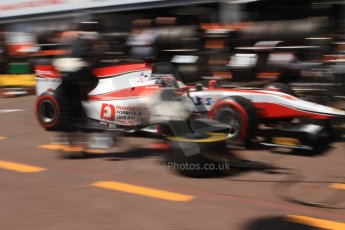 World © Octane Photographic Ltd. Friday 23rd May 2014. GP2 Feature Race – Monaco, Monte Carlo. Takuya Izawa pit stop - ART Grand Prix. Digital Ref : 0963CB7D5251