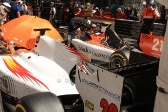 World © Octane Photographic Ltd. Friday 23rd May 2014. GP2 Feature Race – Monaco, Monte Carlo. Arthur Pic - Campos Racing and Tio Ellinas - MP Motorsport. Digital Ref : 0963CB7D5260