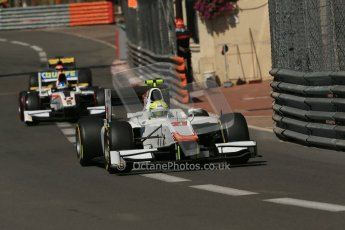 World © Octane Photographic Ltd. Friday 23rd May 2014. GP2 Feature Race – Monaco, Monte Carlo. Kimiya Sato - Campos Racing and Adrian Quaife-Hobbs - Rapax. Digital Ref : 0963LB1D5062
