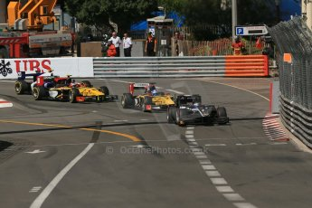 World © Octane Photographic Ltd. Friday 23rd May 2014. GP2 Feature Race – Monaco, Monte Carlo. Mitch Evans - RT Russian Time leads Jolyon Palmer - DAMS. Digital Ref : 0963LB1D5120