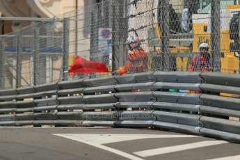 World © Octane Photographic Ltd. Friday 23rd May 2014. GP2 Feature Race – Monaco, Monte Carlo. Red flag after the race is disrupted by the colliding Arden International cars at Fairmont Hotel hairpin. Digital Ref : 0963LB1D6104