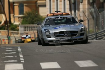 World © Octane Photographic Ltd. Friday 23rd May 2014. GP2 Feature Race – Monaco, Monte Carlo. The FIA Safety Car (Mercedes SLS AMG) leads the pack before the rolling start. Digital Ref : 0963LB1D6157