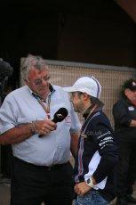 World © Octane Photographic Ltd. Sunday 25TH May 2014. Monaco GP - Gary Anderson interviews Williams Martini Racing FW36 – Felipe Massa. Formula 1 Paddock. Digital Ref: