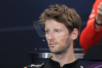 World © Octane Photographic Ltd. Wednesday 21st May 2014. Monaco - Monte Carlo - Formula 1 Drivers' Press Conference. Romain Grosjean - Lotus F1 Team. Digital Ref : 0955lb1d2863