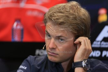 World © Octane Photographic Ltd. Wednesday 21st May 2014. Monaco - Monte Carlo - Formula 1 Drivers' Press Conference. Nico Rosberg - Mercedes AMG Petronas. Digital Ref : 0955lb1d2966