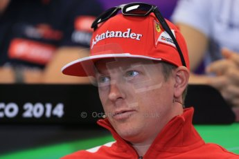 World © Octane Photographic Ltd. Wednesday 21st May 2014. Monaco - Monte Carlo - Formula 1 Drivers' Press Conference. Kimi Raikkonen - Scuderia Ferrari. Digital Ref : 0955lb1d3269