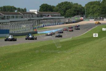 World © Octane Photographic Ltd. Protyre Formula Renault Championship. June 1st 2014.  Race 2 – Castle Donington. Green flag lap. Digital Ref : 0975CB1D0594