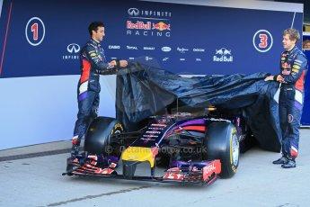 World © Octane Photographic Ltd. 2014 Formula 1 Winter Testing, Circuito de Velocidad, Jerez. Tuesday 27th January 2014. Day 1. Infiniti Red Bull Racing RB10 launched by Sebastian Vettel and Daniel Ricciardo. Digital Ref: 0885lb1d9795