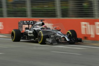 World © Octane Photographic Ltd. Friday 19th September 2014, Singapore Grand Prix, Marina Bay. - Formula 1 Practice 1. McLaren Mercedes MP4/29 - Jenson Button. Digital Ref: