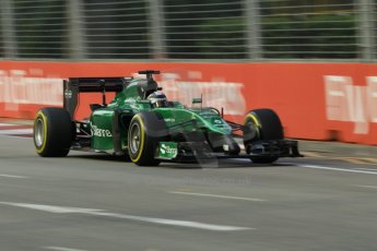 World © Octane Photographic Ltd. Friday 19th September 2014, Singapore Grand Prix, Marina Bay. - Formula 1 Practice 1. Caterham F1 Team CT05 – Kamui Kobayashi. Digital Ref: