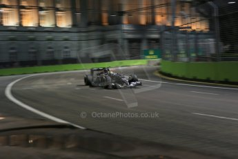 World © Octane Photographic Ltd. Friday 19th September 2014, Singapore Grand Prix, Marina Bay. - Formula 1 Practice 1. Sauber C33 – Esteban Gutierrez. Digital Ref :