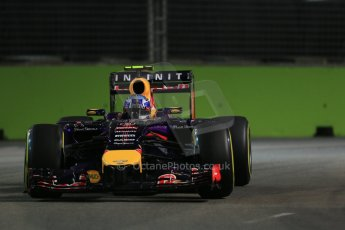 World © Octane Photographic Ltd. Friday 19th September 2014, Singapore Grand Prix, Marina Bay. - Formula 1 Practice 1. Infiniti Red Bull Racing RB10 – Daniel Ricciardo. Digital Ref: 1118LB1D0386