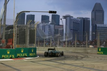 World © Octane Photographic Ltd. Friday 19th September 2014, Singapore Grand Prix, Marina Bay. - Formula 1 Practice 1. Caterham F1 Team CT05 – Kamui Kobayashi. Digital Ref: 1118LB1D9675