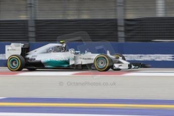 World © Octane Photographic Ltd. Saturday 20th September 2014, Singapore Grand Prix, Marina Bay. - Formula 1 Practice 3. Mercedes AMG Petronas F1 W05 - Nico Rosberg. Digital Ref:
