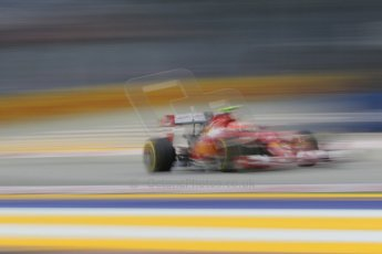 World © Octane Photographic Ltd. Saturday 20th September 2014, Singapore Grand Prix, Marina Bay. - Formula 1 Practice 3. Scuderia Ferrari F14T – Kimi Raikkonen. Digital Ref:
