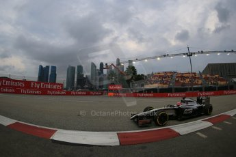 World © Octane Photographic Ltd. Saturday 20th September 2014, Singapore Grand Prix, Marina Bay. - Formula 1 Practice 3. McLaren Mercedes MP4/29 - Jenson Button. Digital Ref:
