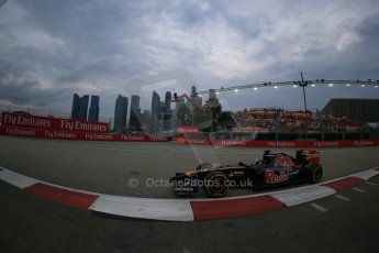 World © Octane Photographic Ltd. Saturday 20th September 2014, Singapore Grand Prix, Marina Bay. - Formula 1 Practice 3. Scuderia Toro Rosso STR9 - Jean-Eric Vergne. Digital Ref: