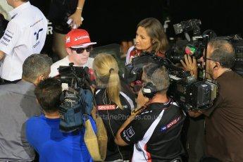 World © Octane Photographic Ltd. Saturday 20th September 2014, Singapore Grand Prix, Marina Bay. - Formula 1 Qualifying Paddock. Scuderia Ferrari F14T – Kimi Raikkonen. Digital Ref: 1125LB1D3001