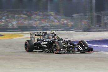 World © Octane Photographic Ltd. Saturday 20th September 2014, Singapore Grand Prix, Marina Bay. - Formula 1 Race outlap. McLaren Mercedes MP4/29 – Kevin Magnussen. Digital Ref: 1127CB1D1015