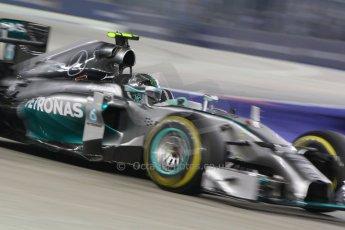 World © Octane Photographic Ltd. Saturday 20th September 2014, Singapore Grand Prix, Marina Bay. - Formula 1 Race outlap. Mercedes AMG Petronas F1 W05 - Nico Rosberg. Digital Ref: 1127CB1D1051a