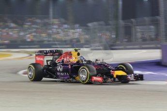 World © Octane Photographic Ltd. Saturday 20th September 2014, Singapore Grand Prix, Marina Bay. - Formula 1 Race outlap. Infiniti Red Bull Racing RB10 – Daniel Ricciardo. Digital Ref: 1127CB1D1055