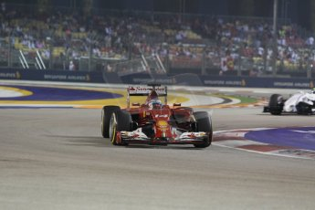 World © Octane Photographic Ltd. Saturday 20th September 2014, Singapore Grand Prix, Marina Bay. - Formula 1 Race outlap. Scuderia Ferrari F14T - Fernando Alonso. Digital Ref: 1127CB1D1070