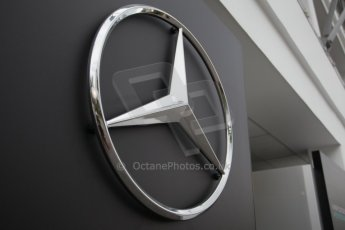 World © Octane Photographic Ltd. Saturday 20th September 2014, Singapore Grand Prix, Marina Bay. Formula 1 Paddock. Mercedes star. Digital Ref: 1122CB1D8201