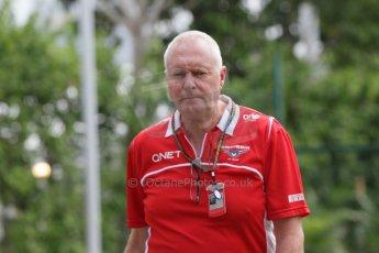 World © Octane Photographic Ltd. Saturday 20th September 2014, Singapore Grand Prix, Marina Bay. - Formula 1 Paddock. Marussia F1 Team - John Booth. Digital Ref: 1122CB1D8226