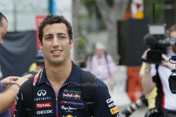 World © Octane Photographic Ltd. Saturday 20th September 2014, Singapore Grand Prix, Marina Bay. - Formula 1 Paddock. Infiniti Red Bull Racing RB10 – Daniel Ricciardo. Digital Ref: 1122CB1D8459