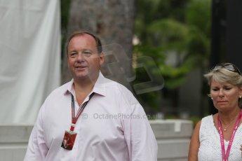 World © Octane Photographic Ltd. Saturday 20th September 2014, Singapore Grand Prix, Marina Bay. - Formula 1 Paddock. Max Chilton's Mother and Father. Digital Ref: 1122CB1D8534
