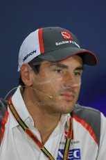 World © Octane Photographic Ltd. Thursday 18th September 2014, Singapore Grand Prix, Marina Bay. - Formula 1 Driver's conference. Sauber C33 – Adrian Sutil. Digital Ref: 1117LB1D8957