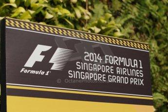 World © Octane Photographic Ltd. Thursday 18th September 2014, Singapore Grand Prix, Marina Bay. - Formula 1 Paddock. Digital Ref: 1116CB1D6808