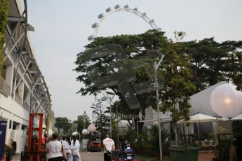 World © Octane Photographic Ltd. Wednesday 17th September 2014, Singapore Grand Prix, Marina Bay. Formula 1 Setup and atmosphere. Digital Ref: 1115CB1D6433