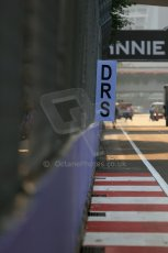 World © Octane Photographic Ltd. Wednesday 17th September 2014, Singapore Grand Prix, Marina Bay. Formula 1 Setup and atmosphere. DRS activation zone after turn 5. Digital Ref: 1115LB1D8756