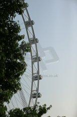 World © Octane Photographic Ltd. Wednesday 17th September 2014, Singapore Grand Prix, Marina Bay. Formula 1 Setup and atmosphere. The Singapore Flyer. Digital Ref: 1115LB1D8780