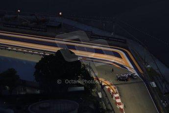 World © Octane Photographic Ltd. Wednesday 17th September 2014, Singapore Grand Prix, Marina Bay. Formula 1 Setup and atmosphere. Turn 22 and following straight. Digital Ref: 1115LB1D8836