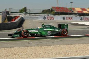 World © Octane Photographic Ltd. Friday 9th May 2014. Circuit de Catalunya - Spain - Formula 1 Practice 1 pitlane. Caterham F1 Team CT05 – Marcus Ericsson. Digital Ref: