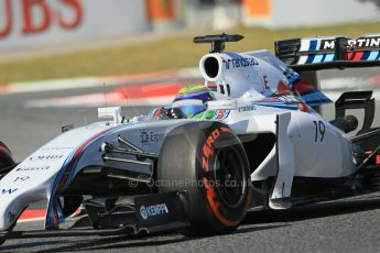 World © Octane Photographic Ltd. Friday 9th May 2014. Circuit de Catalunya - Spain - Formula 1 Practice 1 pitlane. Williams Martini Racing FW36 – Felipe Massa. Digital Ref:
